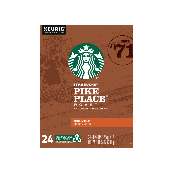 pike place coffee pods box front